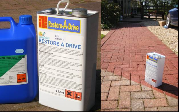 Restore-a-Drive Block Paving treatment