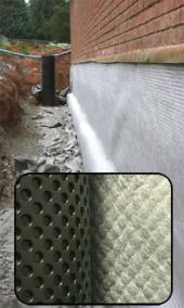 Geodrain with Welded Geotextile Face